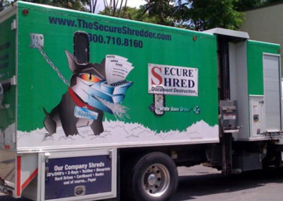 White Properties Secure Shred Truck Wrap Decal